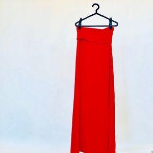 Splendid red maxi skirt medium